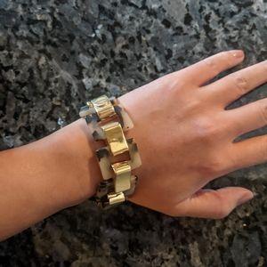 Tortoise shell and gold bracelet